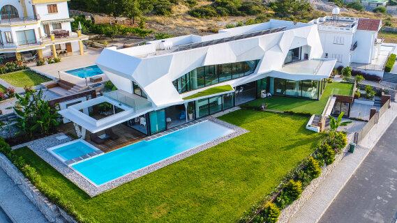 North Cyprus. Luxury high-tech villa in Catalkoy