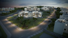 Large three-bedroom apartments in an elite complex by the sea