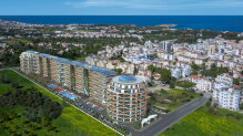 Three-bedroom apartments in an elite complex in Kyrenia