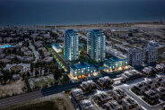 One-bedroom apartments in a high-rise complex near the Long Beach