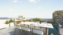 Three-bedroom seafront penthouse with roof terrace