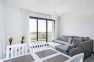 One-bedroom apartments in a high-rise seafront building