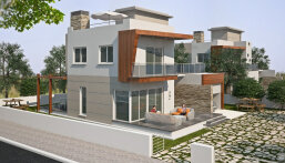 New spacious villas in a new complex under construction