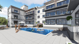 One-bedroom apartments in a new complex in Alsancak