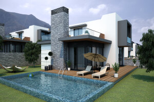 Spacious villas in foothills