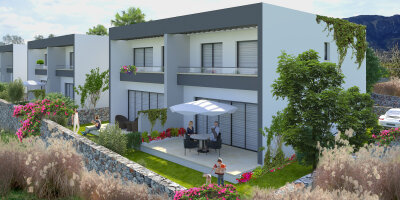Under construction 2 + 1 townhouse with garden and terrace