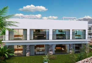 3 + 1 apartments in a newly built complex Esentepe