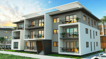 2 bedroom apartments under construction in Alsancak