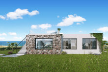 4 + 1 Mediterranean-style bungalow 100 meters from the sea