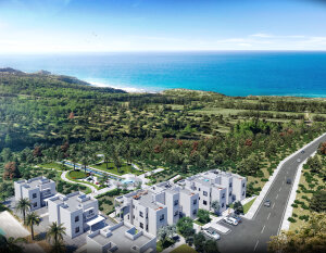 3 + 1 apartment with access to the garden in a luxury complex by the sea